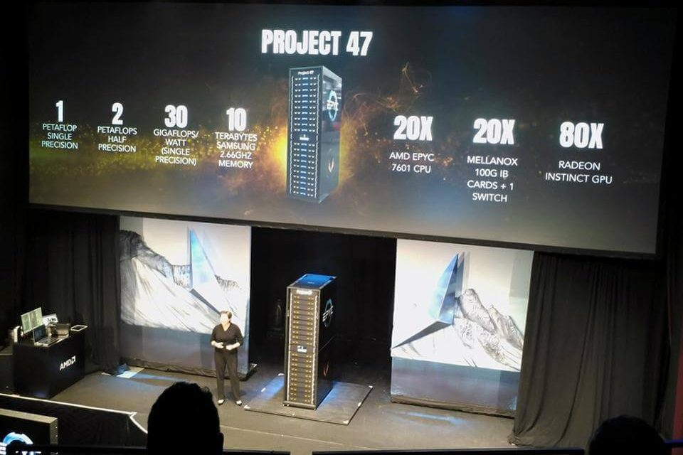AMD unveils Project 47  Compact and Efficient PetaFlop Supercomputer